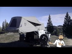 """Habitat Sleep System Walk Around On Our 2016 Toyota Tacoma: """"Oh Hey There! Truck Bed Tent, Truck Toppers, Small Drones, Toyota Tacoma, Van Life, Offroad, Habitats, Outdoor Gear, Camper"""