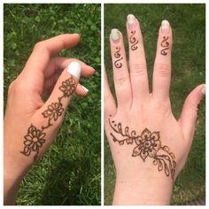 DIY henna! Hand Henna, Hand Tattoos, Diy, Bricolage, Do It Yourself, Homemade, Diys, Crafting
