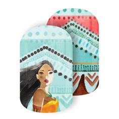 Noble Princess | Disney Collection by Jamberry | Volume 3 | Pocahontas | The free-spirited, 'Noble Princess' Disney Princess Pocahontas, stands tall in her iconic pose in this festival-inspired watercolor design.