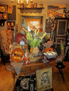 Antique Tables loaded with goodies.....