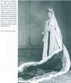 The Duchess of Albany dressed for the coronation of King Edward VII of the United Kingdom (1902)