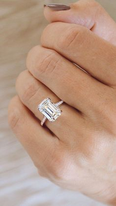 Morganite Engagement Ring Set Rose and White Gold Morganite Rings Floral Engagement Ring with Matching Diamond Band - Fine Jewelry Ideas Dream Engagement Rings, Engagement Ring Settings, Vintage Engagement Rings, Emerald Cut Engagement Rings, Timeless Engagement Ring, Engagement Rings With Baguettes, 3 Carat Engagement Ring, Expensive Engagement Rings, Emerald Cut Rings