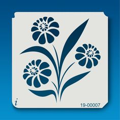 19-00007 Daisy Flower Stencil