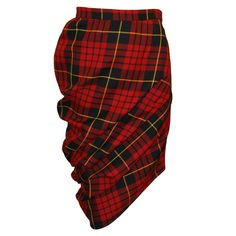 "Alexander McQueen A/W 1998 ""Joan"" Collection Tartan Plaid Tube Skirt  