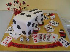 Vegas Cake--for the family reunion? Fancy Cakes, Cute Cakes, Family Tree Cakes, Vegas Cake, Music Cakes, Cake Makers, Love Cake, Creative Cakes, Cake Art