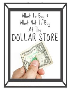 The dollar store can save you money, but not everything at these stores is actually worth buying! Check out this comprehensive list of what you should and shouldn't buy!