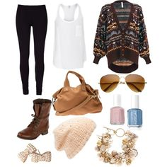 Lazy in Brown by sarahlizmulligan on Polyvore