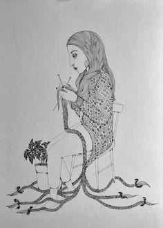 O Tapete Vermelho da Imagem: Images' Red Carpet: Rapunzel por Jennie Ekström / Rapunzel illustrated...