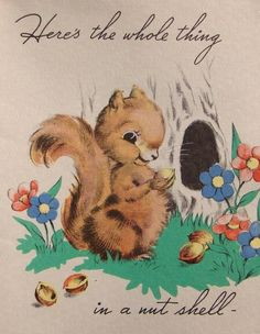 to this day, squirrels make me think of my aunt gladys.... <3