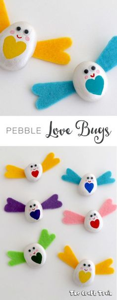 Pebble Love Bugs – a Valentine craft for kids