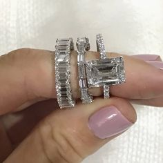 Diamond Wedding Rings Ring Concierge Emerald Cut Diamond Eternity Band - This classic emerald cut diamond eternity band makes a perfect wedding band or right hand ring. Made to order Platinum or Gold with diamonds in all sizes and qualities. Wedding Rings Simple, Wedding Rings Solitaire, Wedding Rings Rose Gold, Wedding Rings Vintage, Band Engagement Ring, Solitaire Diamond, Wedding Rings For Bride Diamonds, Emerald Cut Engagement Rings, Wedding Engagement