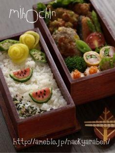 すいかデコ弁当 by みほちんww|簡単作り方/料理検索の楽天レシピ