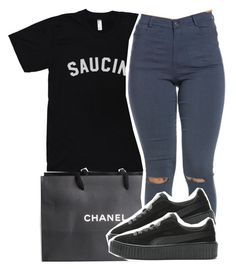 """""""Chanel.. Saucin'"""" by chynelledreamz ❤ liked on Polyvore featuring Chanel"""