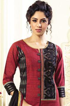 New stylish and trendy kurti neck designs - ArtsyCraftsyDad Salwar Neck Designs, Churidar Designs, Kurta Neck Design, Kurta Designs Women, Dress Neck Designs, Designs For Dresses, Blouse Designs, Kurtha Designs, Kurti Patterns