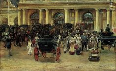 At the railway station - José García y Ramos