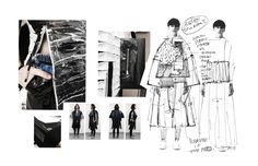 Fashion Sketchbook - fashion & textiles portfolio, collection development with fashion sketches & fabric research // Ximon Lee