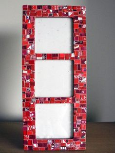 Handmade Gift Card Mosaic Picture Frame