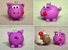 Little piggy and sheep: Polymer clay
