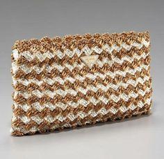 Rucno heklana torbica od rafije - Prada