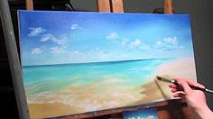 oil painting beach - YouTube