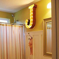 """Letter J - 24"""" Vintage Marquee Lights - The ORIGINAL!"""