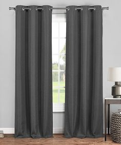 Gray Dylan Blackout 365 Curtain Panel - Set of Two