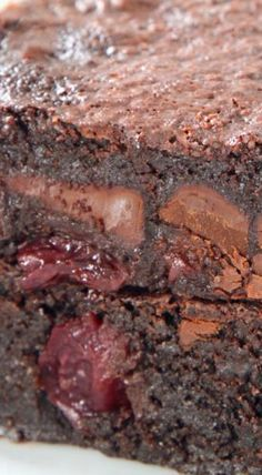 Chocolate Cherry Brownies (gluten-free, dairy-free, whole grain options)