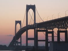 Newport Bridge, R.I. I remember the first time i crossed that bride in Oct of 82