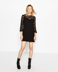 ZARA - WOMAN - LACE MINI DRESS