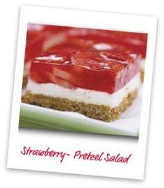 Household Ways: Strawberry-Pretzel Salad