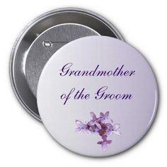 Lilac Wedding Grandmother of the Groom Pin