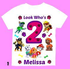 Paw Patrol Personalized Birthday Girl T-shirt