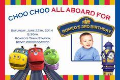 Chuggington Train Birthday Custom Invitation by XochitlMontana