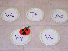 Pumpkin Toss Game (from Learning & Teaching with Preschoolers)