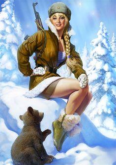 -font-b-Soviet-b-font-Union-Female-at-WW2-Pop-Art-font-b-Propaganda-b.jpg (1475×2100)