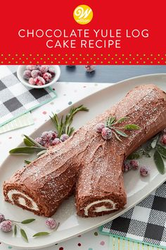 Christmas Dishes, Christmas Cooking, Christmas Desserts, Holiday Treats, Christmas Treats, Christmas Eve, Yule Log Cake, Cake Recipes, Dessert Recipes