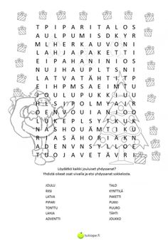 Word Search, Words