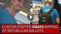 VIDEO: Cameras Bust Hillary Worker DESTROYING Ballots!