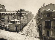Calle Zurbano, un día de nevada. Aproximadamente año 1900. Autor desconocido Museo de Historia, Madrid.