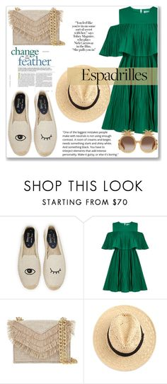 """""""Untitled #438"""" by sandrapopescu on Polyvore featuring Soludos, Jovonna, Cynthia Rowley and Gucci"""