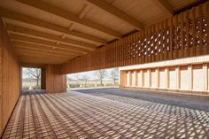 German Architecture Students Design Wooden Community Shelter for Refugees in Mannheim German Architecture, Timber Architecture, Timber Buildings, Commercial Architecture, Kaiserslautern, Timber Planks, Timber Walls, Calgary, Brick Cladding