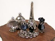 Dollhouse Miniature Paris Nights Black Perfume Bottle Collection