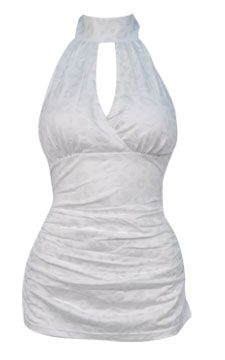 Cutout Halter Top                                                                                    front view