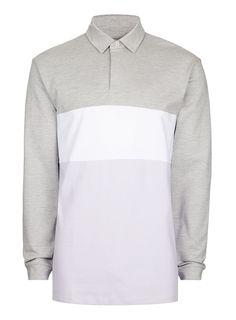 Gray Rugby Shirt - T-shirts & Tanks - Clothing - TOPMAN USA