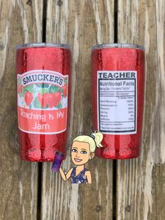 Items similar to Teaching is my jam tumbler Diy Tumblers, Custom Tumblers, Glitter Tumblers, Acrylic Tumblers, Teacher Appreciation Gifts, Teacher Gifts, Custom Cups, Tumbler Cups, Mason Jar Tumbler