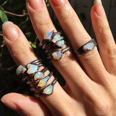 Australian Opal ring Raw Opal ring Opal jewelry by MyPerception