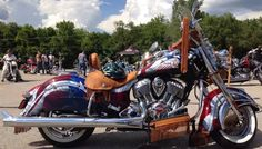 Red White & Blue..  American Made 2014 Indian Motorcycle worthy of a salute!