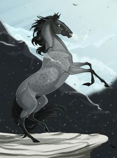 (Credit to artist) Creature Drawings, Horse Drawings, Animal Drawings, Art Drawings, Horse Animation, Medieval Horse, Horse Sketch, Horse Illustration, Pinturas Disney