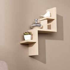 albany floating display shelf light maple floating wall
