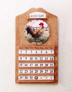 Wooden Calendars   theronimhousegiftshoppe.com